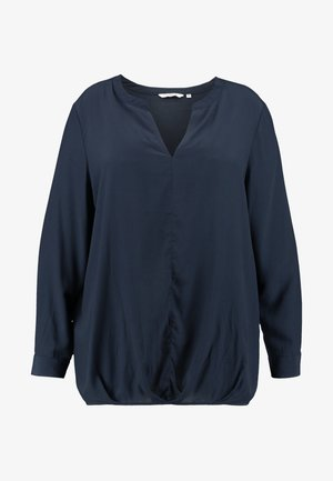 BLOUSE SOLID WITH FOLDED HEM - Blouse - sky captain blue