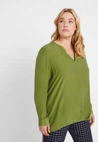 MY TRUE ME TOM TAILOR - BLOUSE SOLID WITH FOLDED HEM - Bluser - wood green - 0