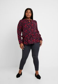 MY TRUE ME TOM TAILOR - BLOUSE WITH DRAWSTRING - Bluzka - navy - 1