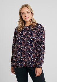 MY TRUE ME TOM TAILOR - PLEATED BLOUSE - Bluzka - navy - 0