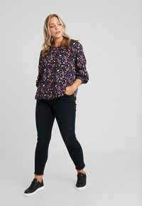 MY TRUE ME TOM TAILOR - PLEATED BLOUSE - Bluzka - navy - 1