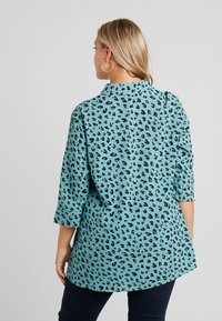 MY TRUE ME TOM TAILOR - PRINTED LONG TUNIC - Button-down blouse - mint navy - 2