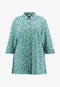 MY TRUE ME TOM TAILOR - PRINTED LONG TUNIC - Button-down blouse - mint navy - 4