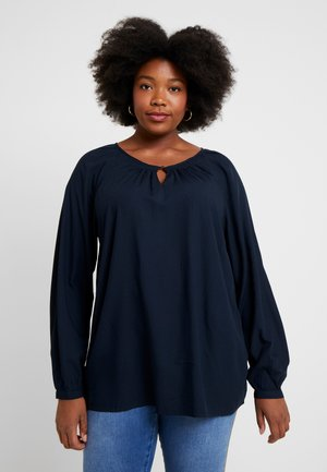 BLOUSE WITH STRUCTURE - Camicetta - sky captain blue
