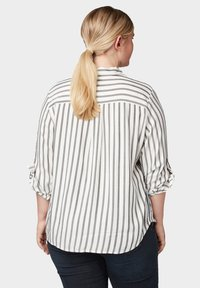 MY TRUE ME TOM TAILOR - MIT TAPE-DETAILS - Button-down blouse - offwhite grey stripe - 2