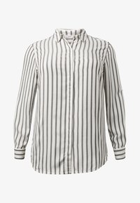 MY TRUE ME TOM TAILOR - MIT TAPE-DETAILS - Button-down blouse - offwhite grey stripe - 4