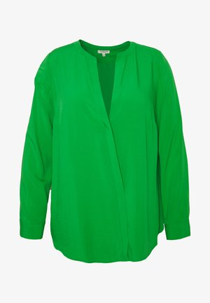 LONG SLEEVE WRAP BLOUSE - Bluser - gras green