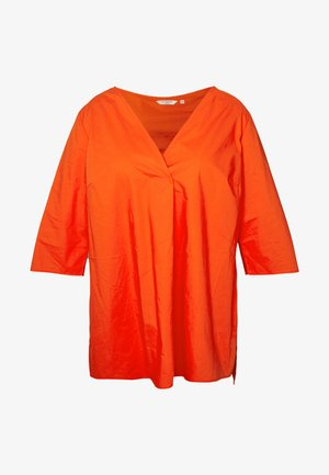 LOOSE FIT BLOUSE PLEAT - Bluser - signal red