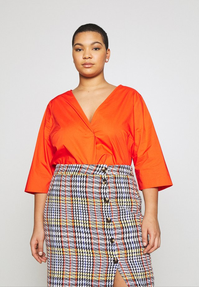 LOOSE FIT BLOUSE PLEAT - Blouse - signal red