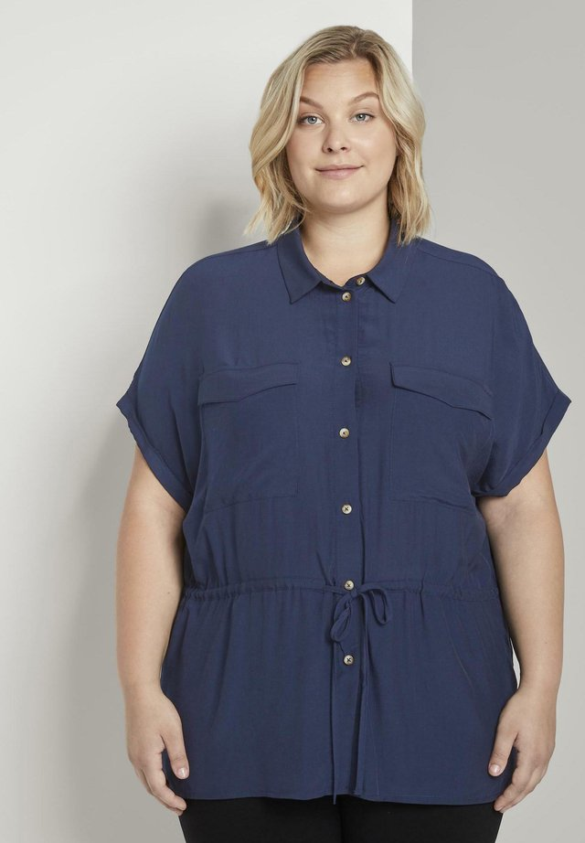 MY TRUE ME TOM TAILOR BLUSEN & SHIRTS BLUSE IM UTILITY-LOOK - Hemdbluse - real navy blue