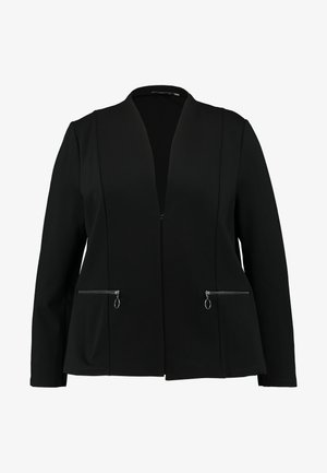 WITH ZIPPED POCKETS - Blazer - deep black
