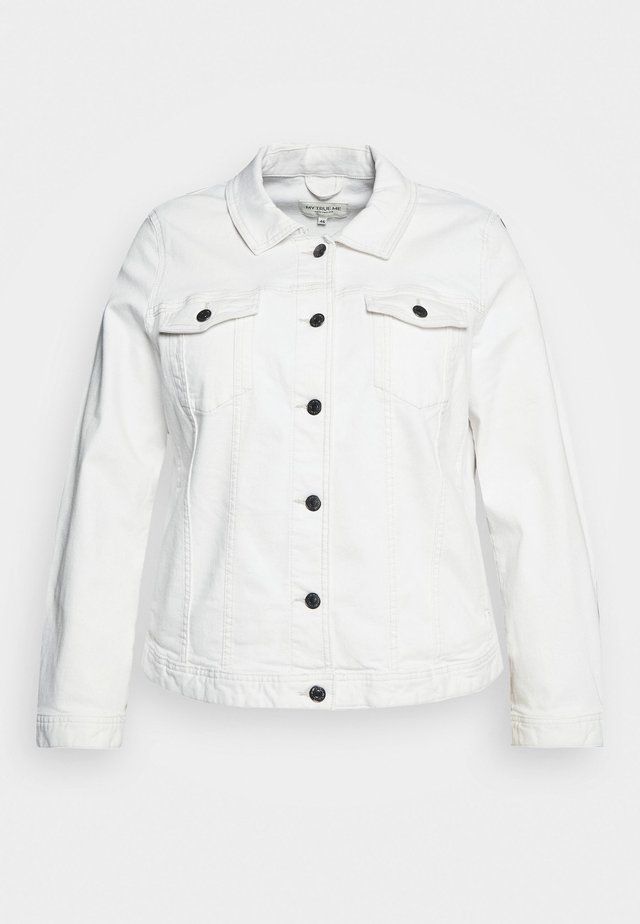 COLOURED DENIM JACKET - Džínová bunda - white