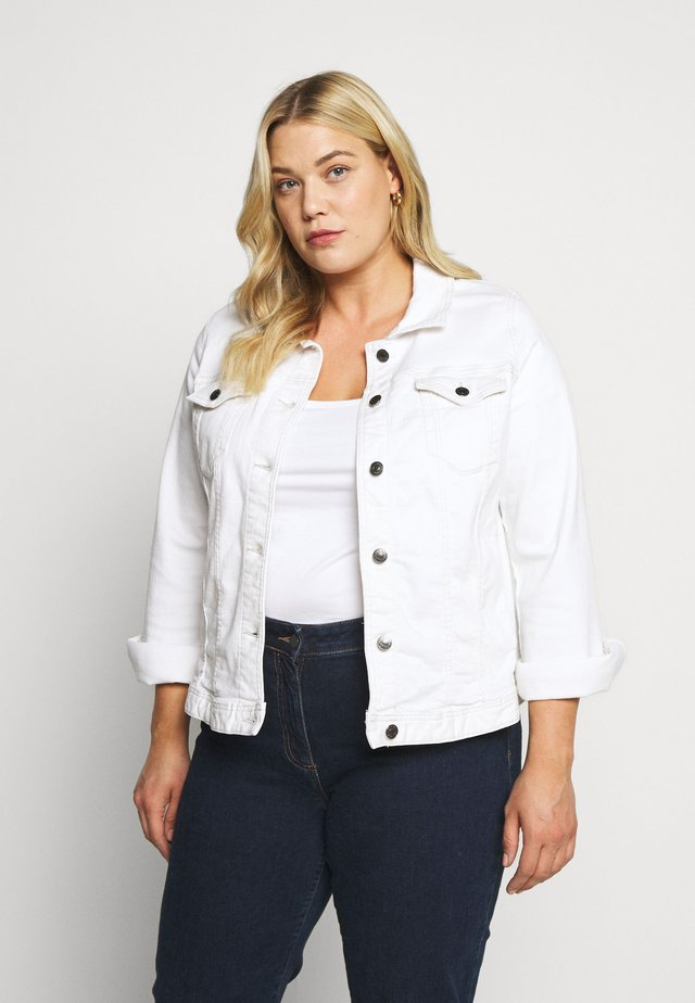 COLOURED JACKET - Kurtka jeansowa - white