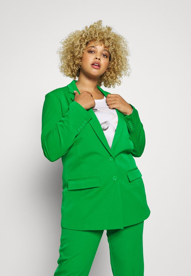WITH CONTRAST LINING - Short coat - gras green