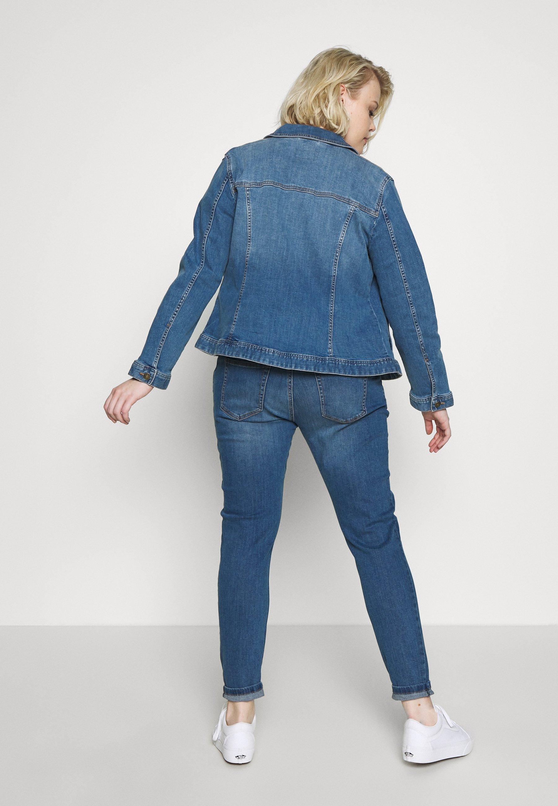 MY TRUE ME TOM TAILOR Kurtka jeansowa - blue denim