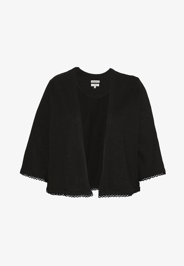 SHORT CARDIGAN WITH TAPE - Strickjacke - deep black