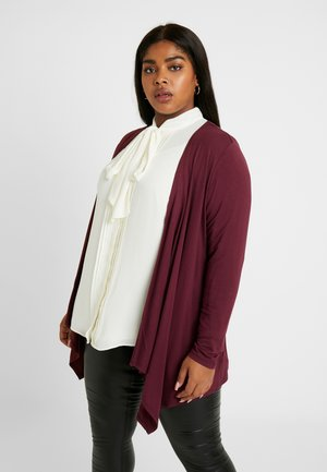 Cardigan - deep burgundy red