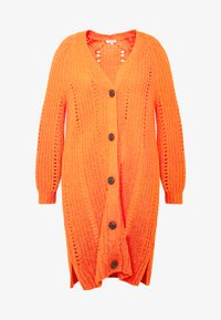 MY TRUE ME TOM TAILOR - O SHAPE CARDIGAN - Cardigan - knockout orange - 4