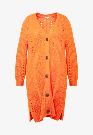 O SHAPE CARDIGAN - Kardigan - knockout orange
