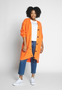 MY TRUE ME TOM TAILOR - O SHAPE CARDIGAN - Cardigan - knockout orange - 1