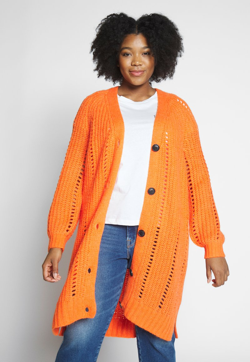 MY TRUE ME TOM TAILOR - O SHAPE CARDIGAN - Cardigan - knockout orange