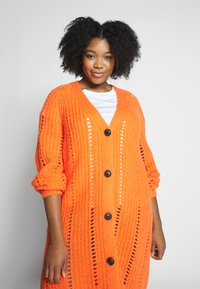 MY TRUE ME TOM TAILOR - O SHAPE CARDIGAN - Cardigan - knockout orange - 3