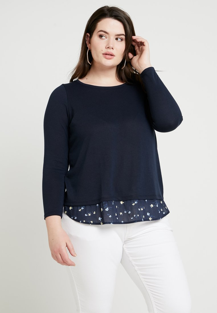 MY TRUE ME TOM TAILOR - 2IN1 KNITTED - Strickpullover - sky captain blue