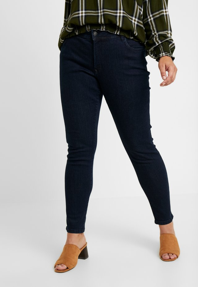 BASIC - Jeansy Skinny Fit - dark blue denim