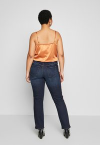 MY TRUE ME TOM TAILOR - PIPING DETAIL - Jeans Skinny Fit - dark stone wash denim - 2