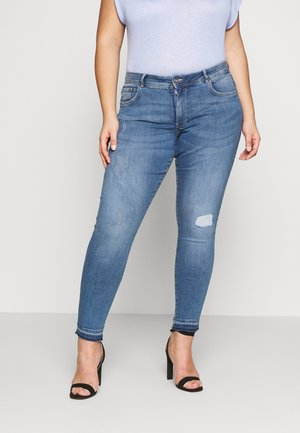 USED - Jeans Skinny Fit - mid stone blue