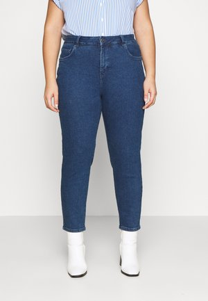 ANKLE LENGTH - Jeans relaxed fit - dark stone blue denim