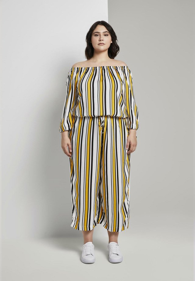 Jumpsuit - black yellow stripe