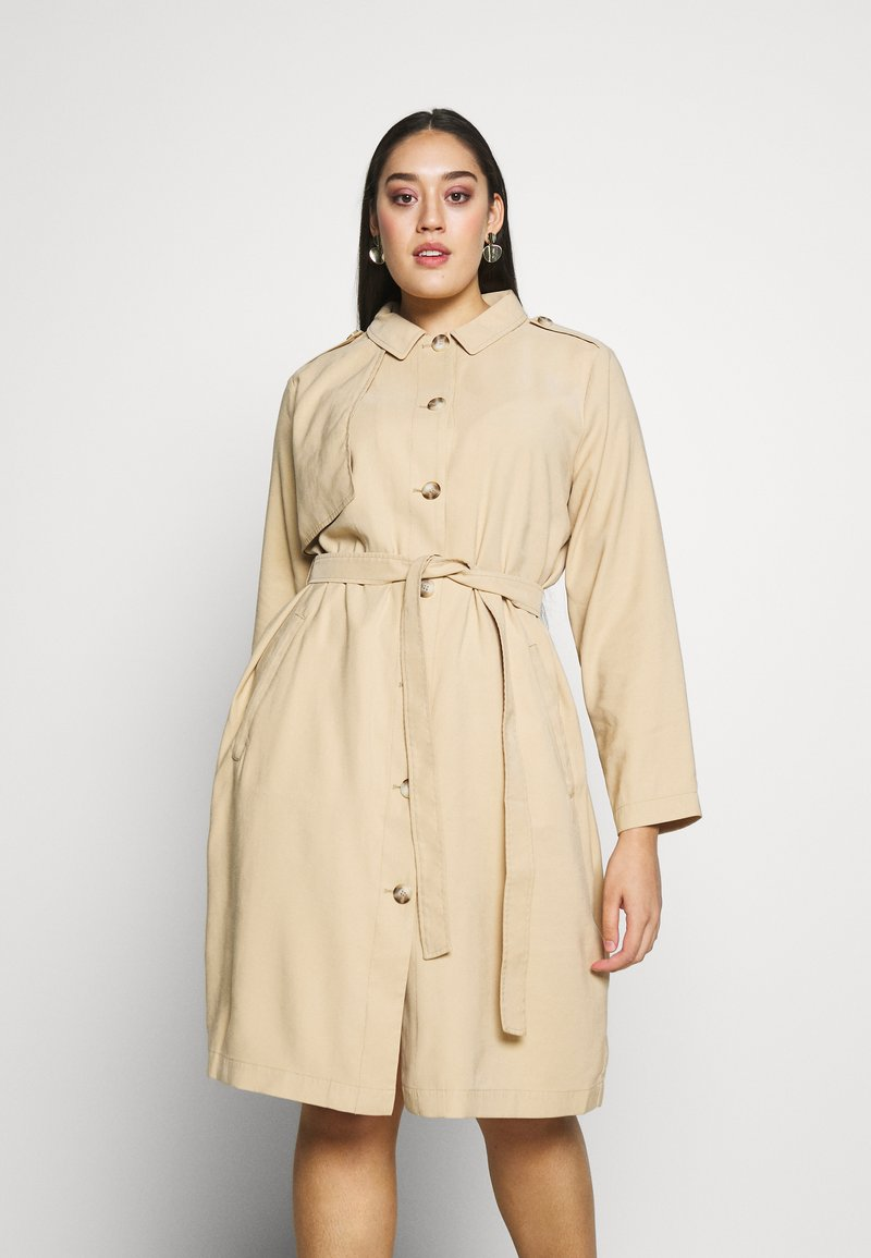 MY TRUE ME TOM TAILOR - FLUENT TRENCH COAT - Trench - cream toffee