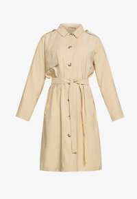 MY TRUE ME TOM TAILOR - FLUENT TRENCH COAT - Trench - cream toffee - 3