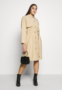 MY TRUE ME TOM TAILOR - FLUENT TRENCH COAT - Trench - cream toffee - 1