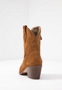 Toral Wide Fit - Cowboy/biker ankle boot - basket cognac - 5