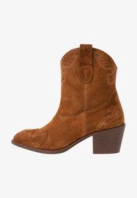 Toral Wide Fit - Cowboy/biker ankle boot - basket cognac - 1