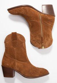 Toral Wide Fit - Cowboy/biker ankle boot - basket cognac - 3
