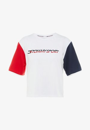 TEE COLORBLOCK LOGO - T-shirts med print - white