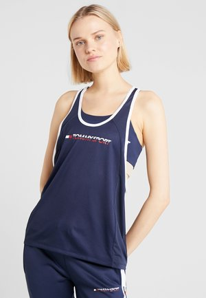 FLAG TAPE TANK  - Sportshirt - blue
