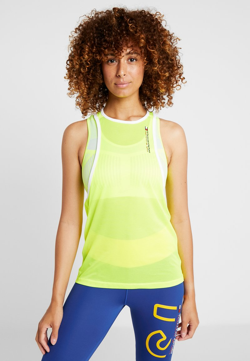 Tommy Sport - TRANSLUCENT TANK  - Funktionströja - yellow