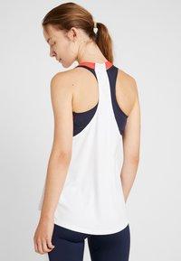 Tommy Sport - BLOCKED HIGH NECK TANK LOGO - Treningsskjorter - white - 2