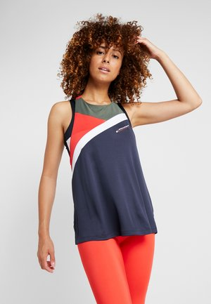 BLOCKED HIGH NECK TANK LOGO - Sportshirt - blue