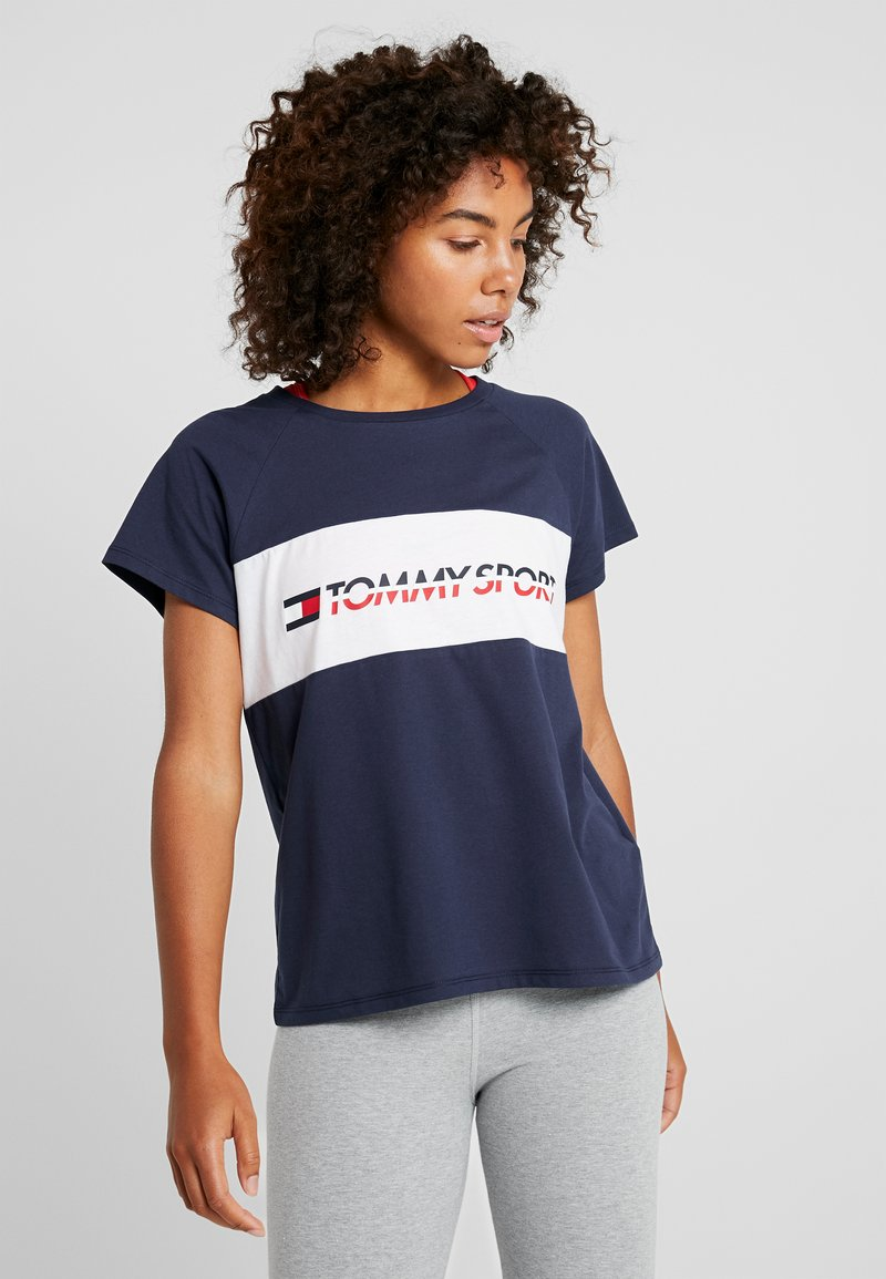 Tommy Sport - BLOCKED TEE LOGO - T-shirt con stampa - blue