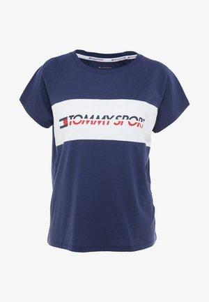 BLOCKED TEE LOGO - T-shirt print - blue