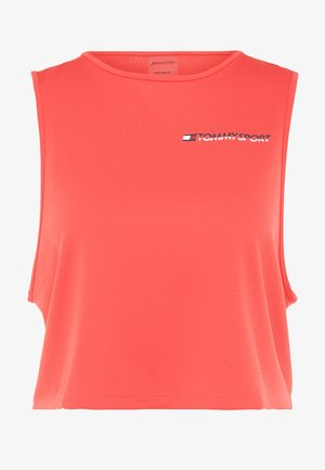 CROPPED TANK TOP LOGO - Sports shirt - red
