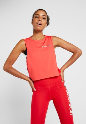 CROPPED TANK TOP LOGO - Camiseta de deporte - red