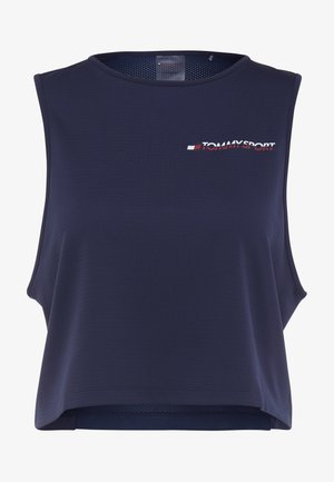 CROPPED TANK TOP LOGO - Funktionströja - blue