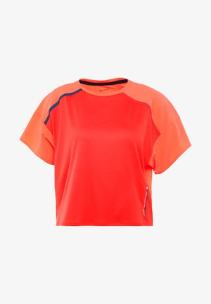 BOXY TEE WITH REFLECTIVE TAPE - T-shirt imprimé - red