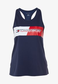 Tommy Sport - GRAPHIC FLAG TANK  - Top - blue - 4